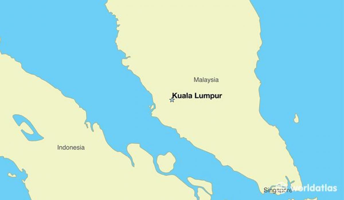 Hovedstaden I Malaysia Kort Kort Over Hovedstaden I Malaysia
