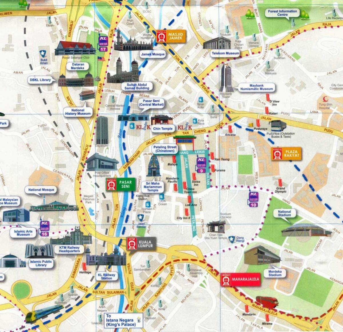 Petaling Street Map Kuala Lumpur Kort I Petaling Street Kuala